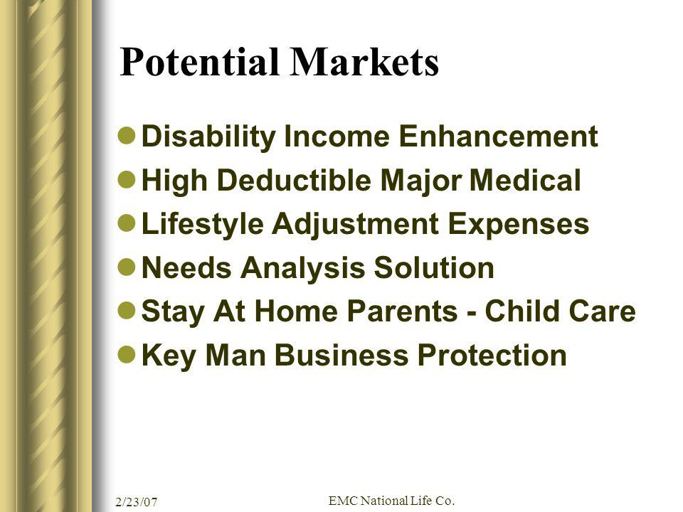 Potential Markets Disability Income Enhancement