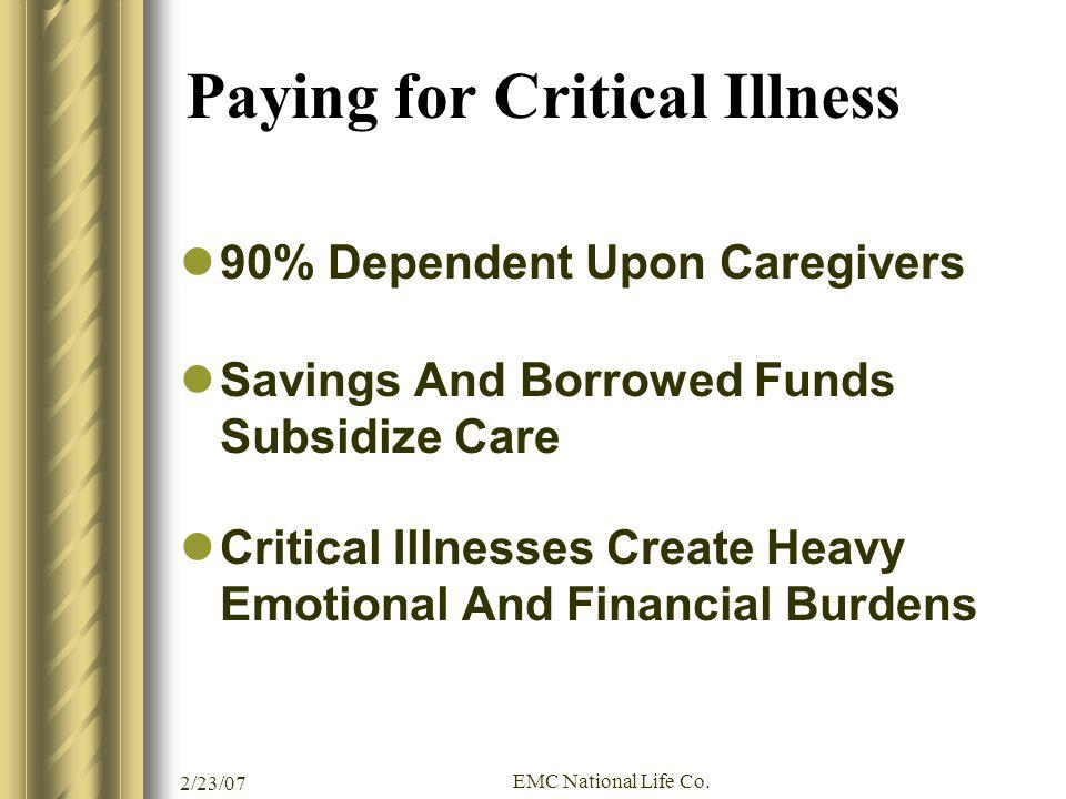 Paying for Critical Illness