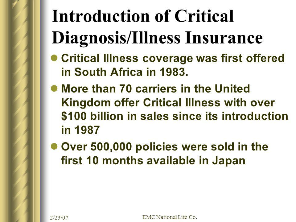 Introduction of Critical Diagnosis/Illness Insurance