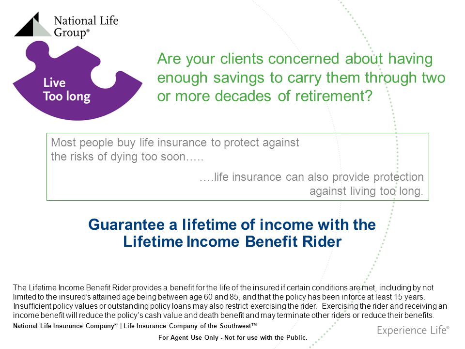 Guarantee a lifetime of income with the Lifetime Income Benefit Rider