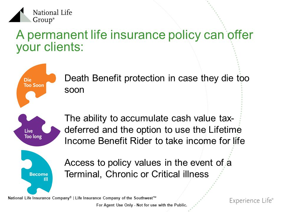 A permanent life insurance policy can offer your clients: