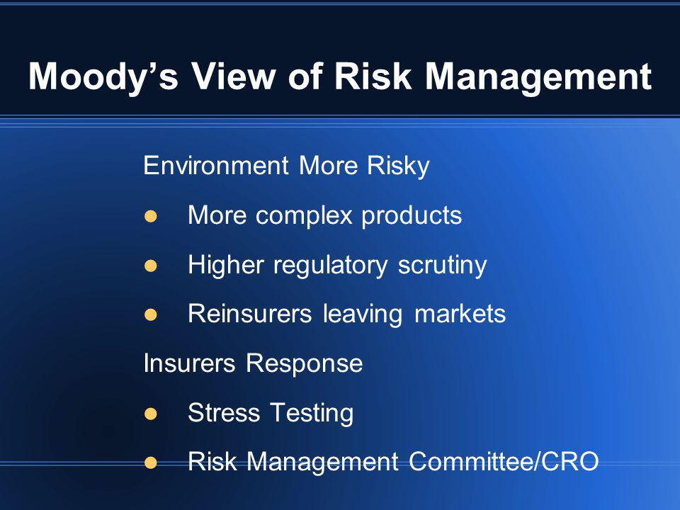 Moody's View of Risk Management
