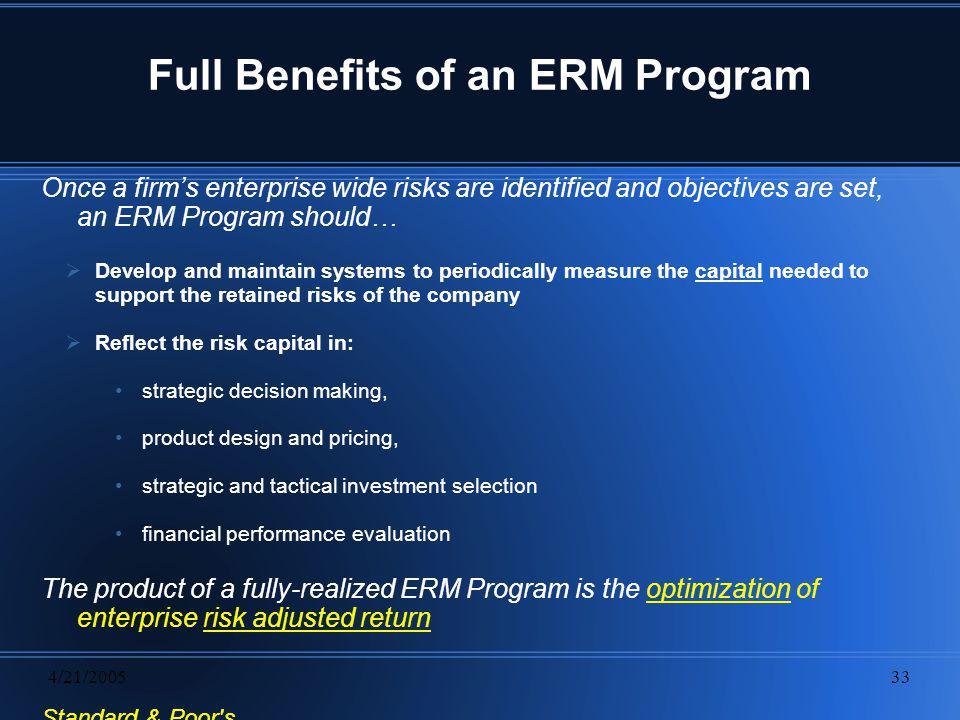 Full Benefits of an ERM Program