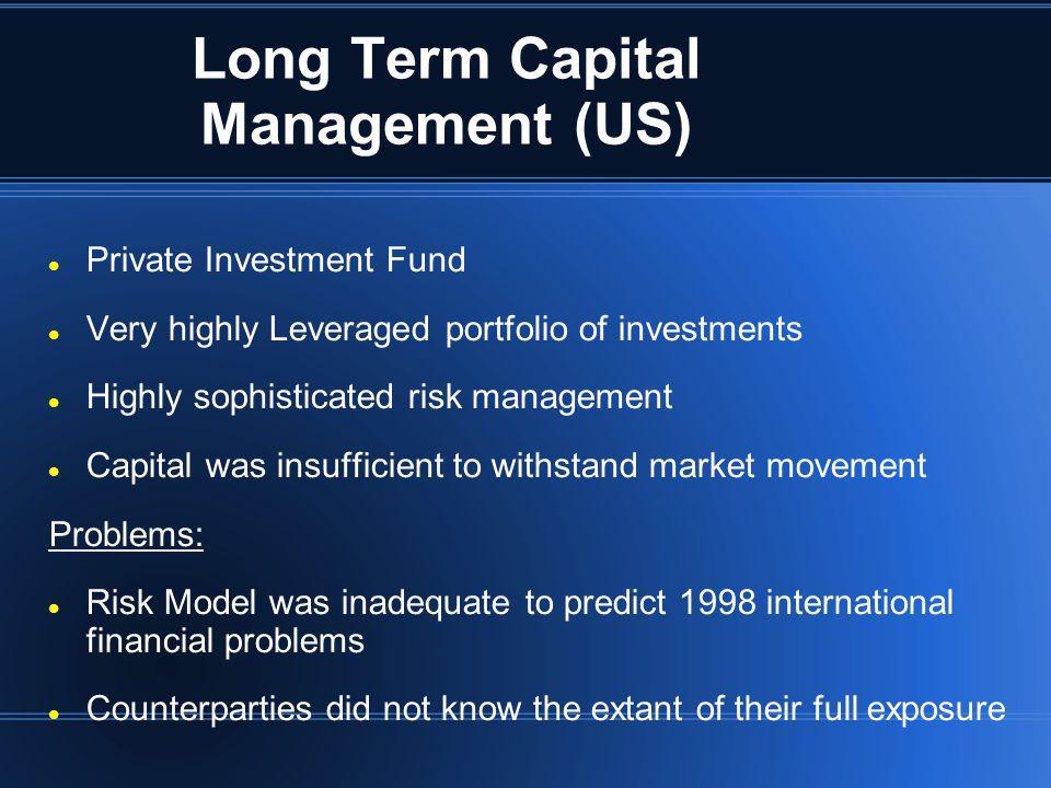 Long Term Capital Management (US)