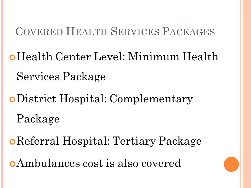 Covered Health Services Packages
