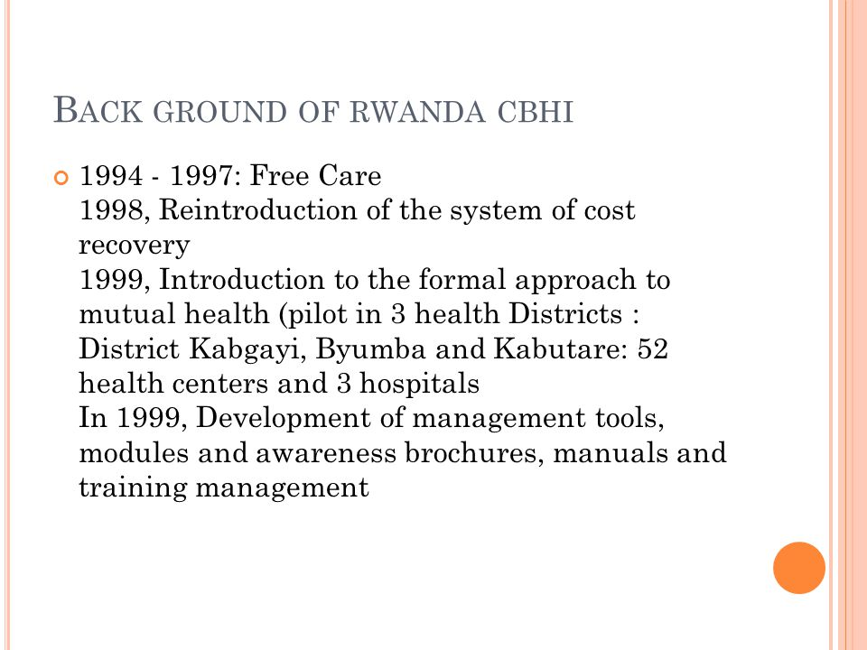 Back ground of rwanda cbhi