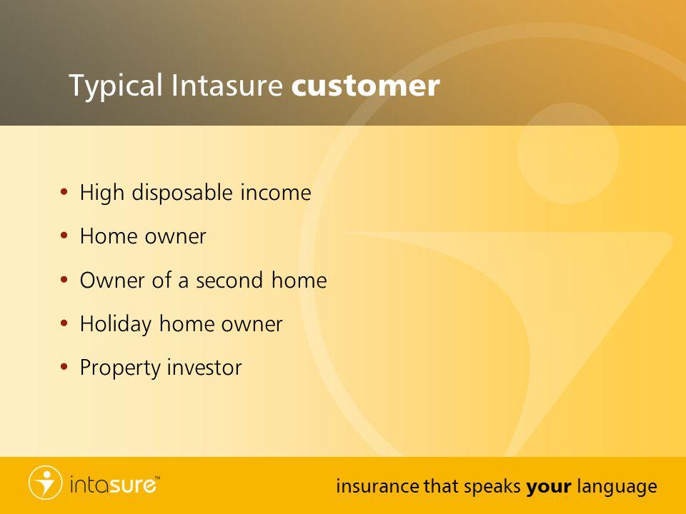 Typical Intasure customer