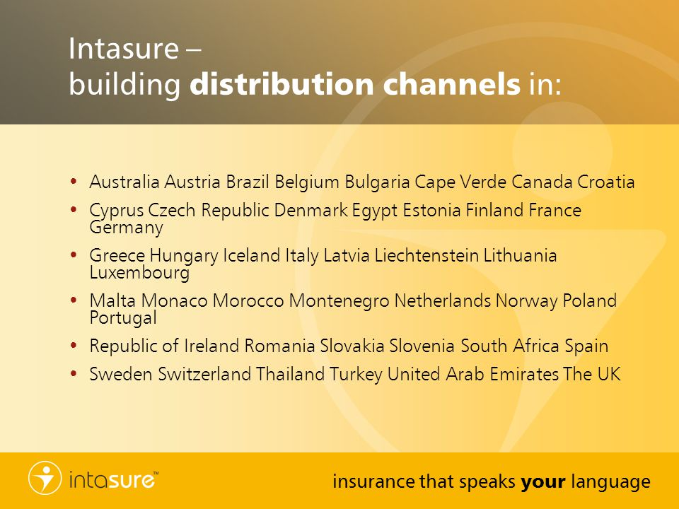 Intasure – building distribution channels in: