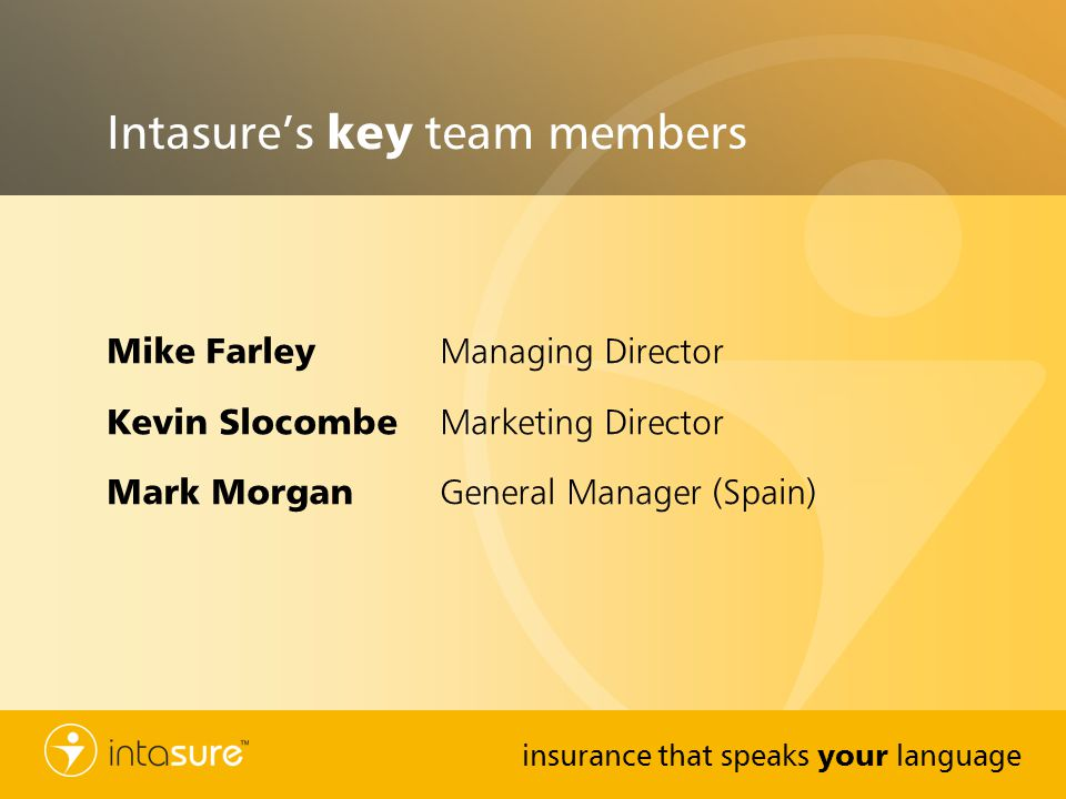 Intasure's key team members