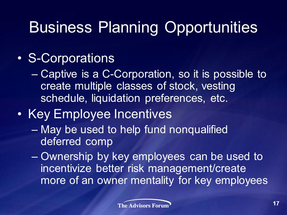 Business Planning Opportunities