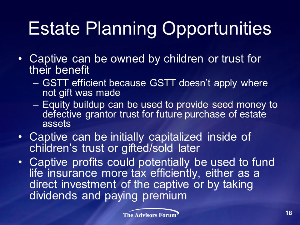 Estate Planning Opportunities