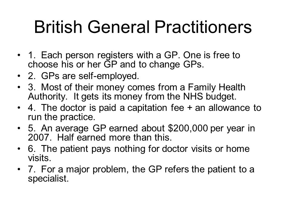 British General Practitioners