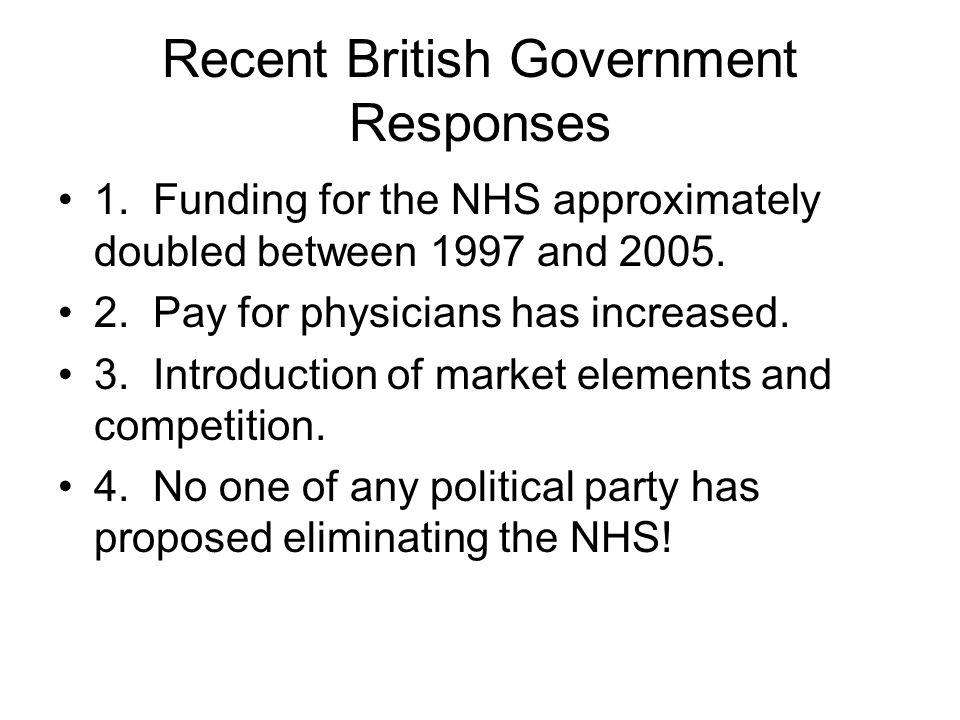 Recent British Government Responses