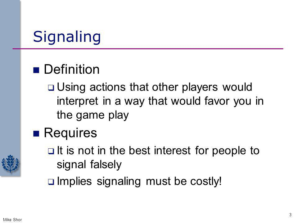 Signaling Definition Requires