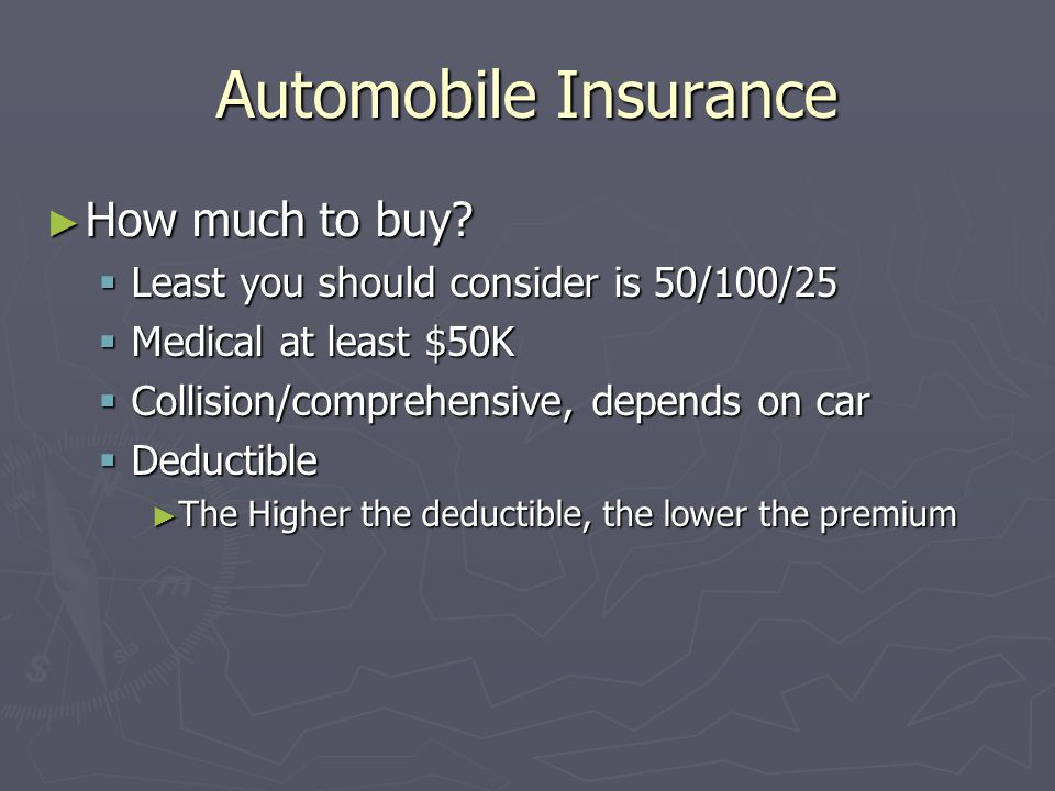 Automobile Insurance How much to buy