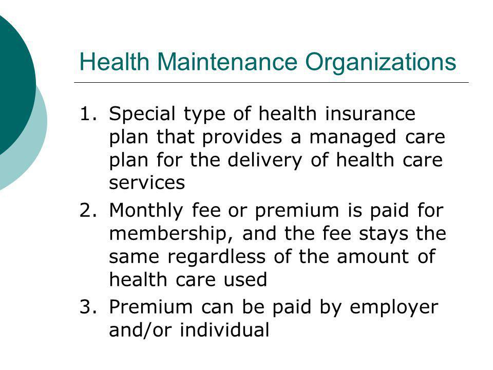 Health Maintenance Organizations