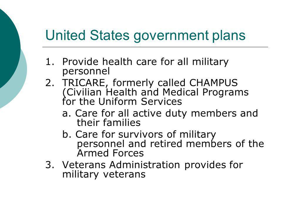United States government plans