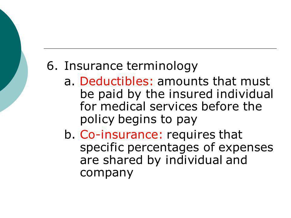 6. Insurance terminology