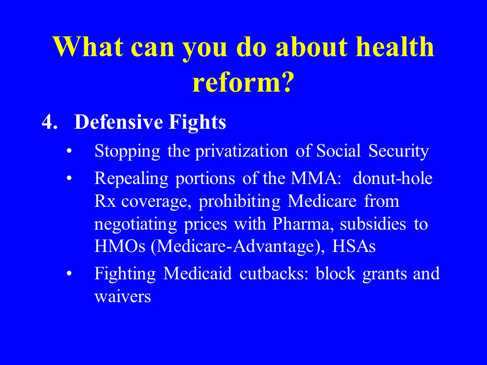 What can you do about health reform