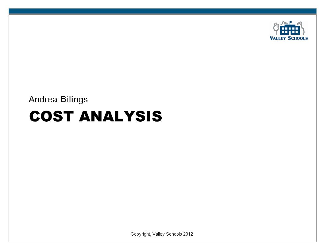 Andrea Billings Cost analysis