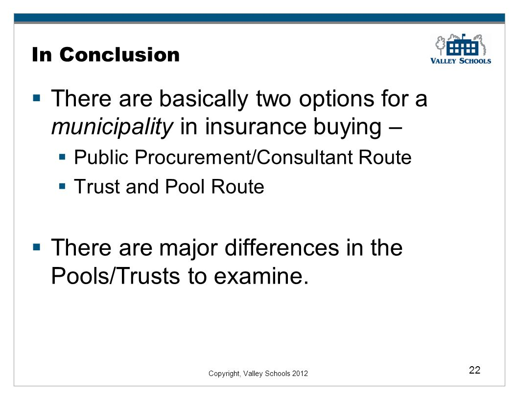 There are major differences in the Pools/Trusts to examine.