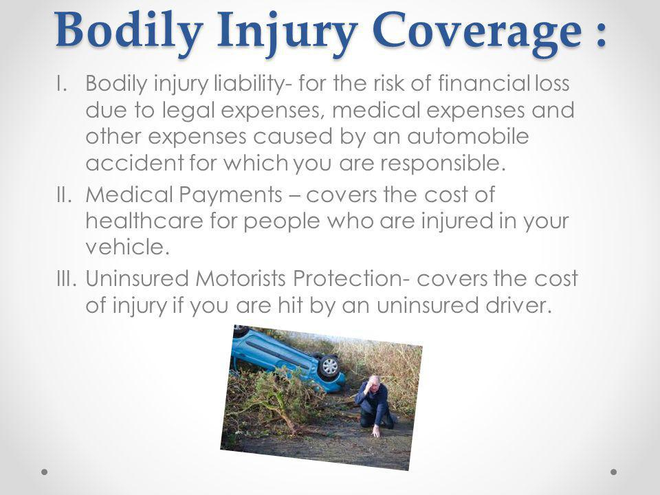 Bodily Injury Coverage :
