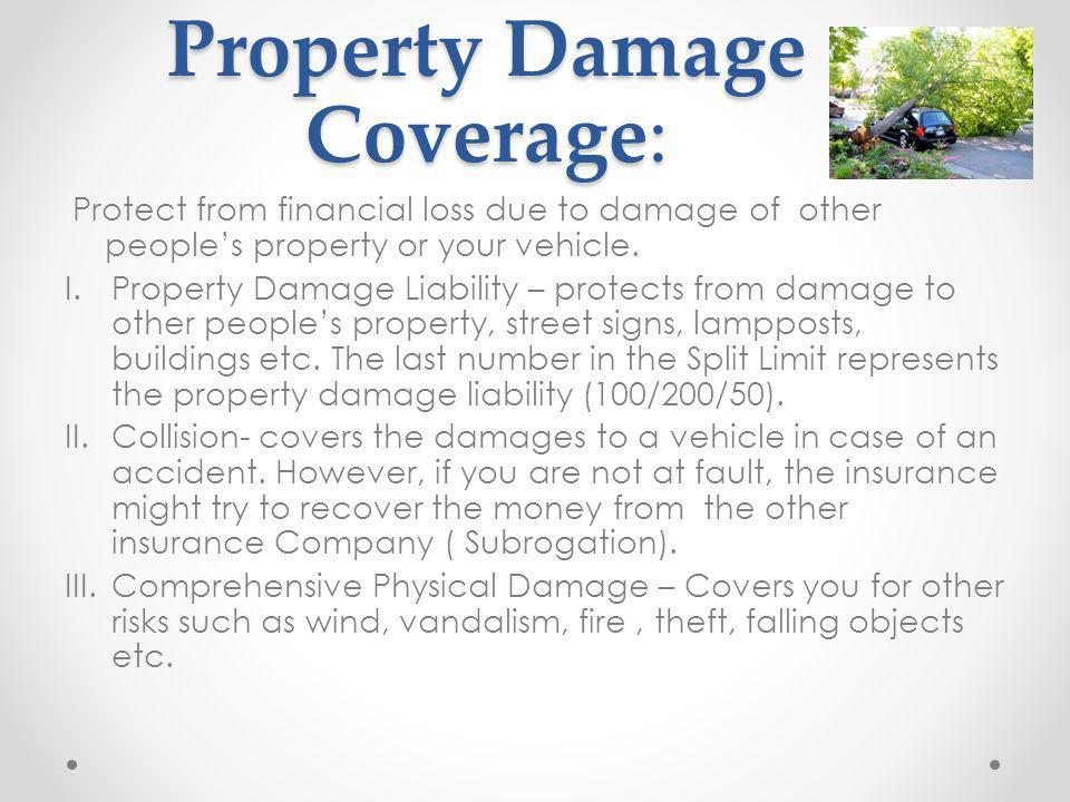Property Damage Coverage: