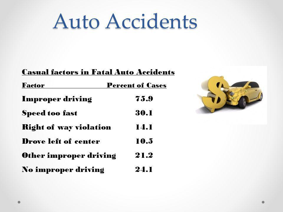 Auto Accidents Casual factors in Fatal Auto Accidents