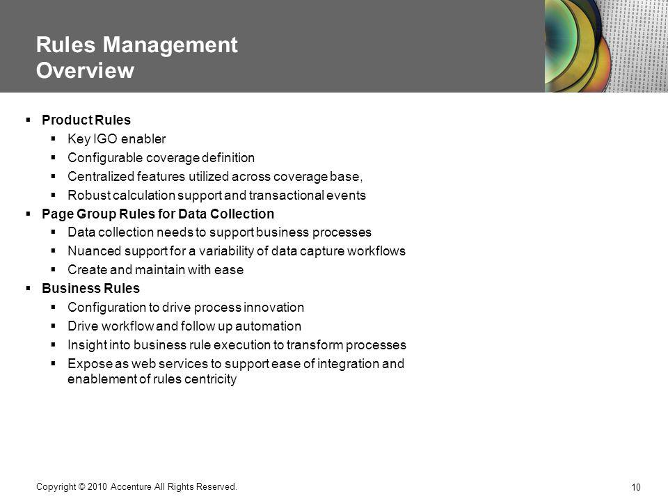 Rules Management Overview