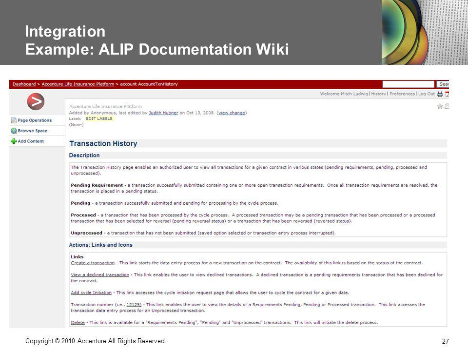 Integration Example: ALIP Documentation Wiki
