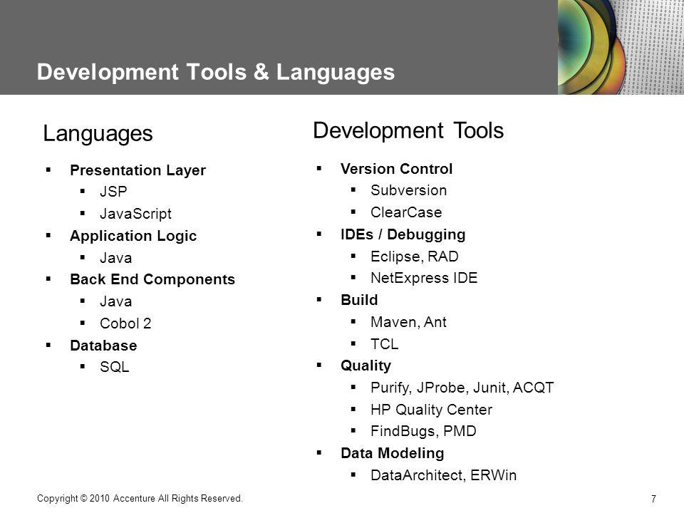 Development Tools & Languages