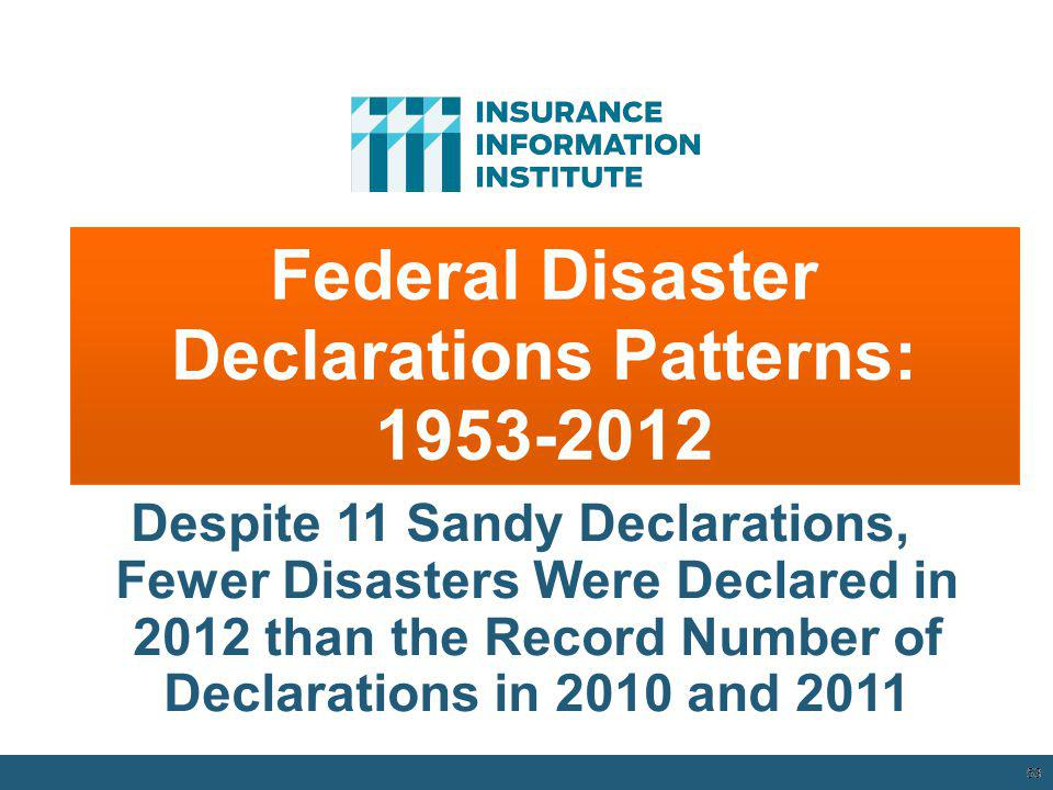 Federal Disaster Declarations Patterns: 1953-2012