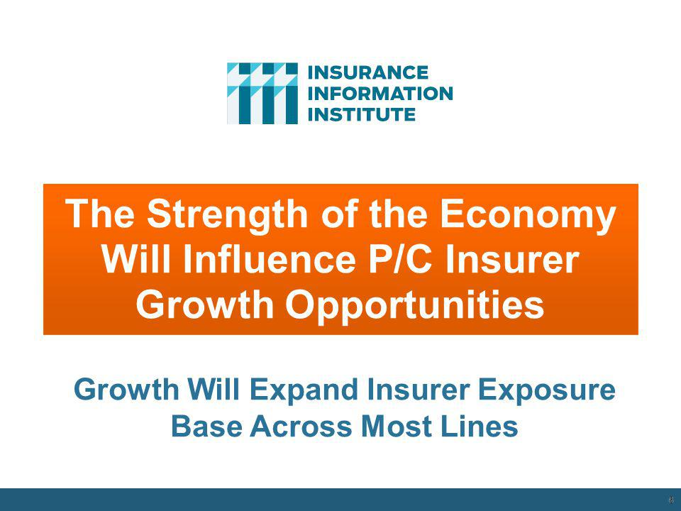 Growth Will Expand Insurer Exposure Base Across Most Lines