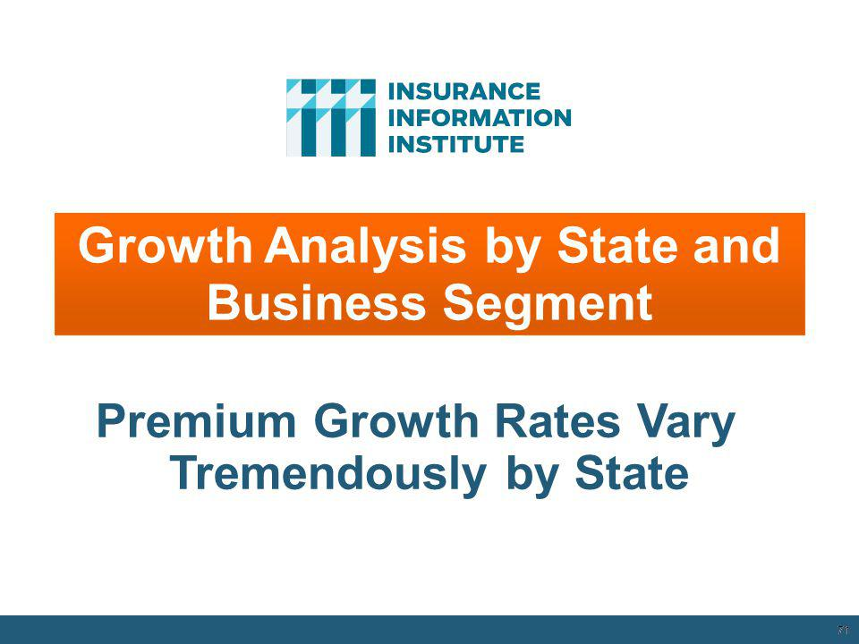 Growth Analysis by State and Business Segment