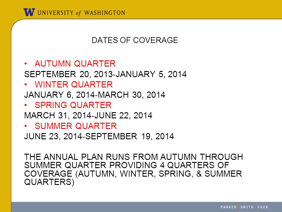 AUTUMN QUARTER SEPTEMBER 20, 2013-JANUARY 5, 2014 WINTER QUARTER