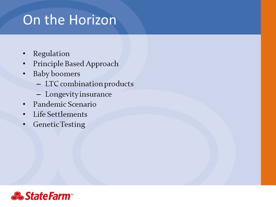 On the Horizon Regulation Principle Based Approach Baby boomers