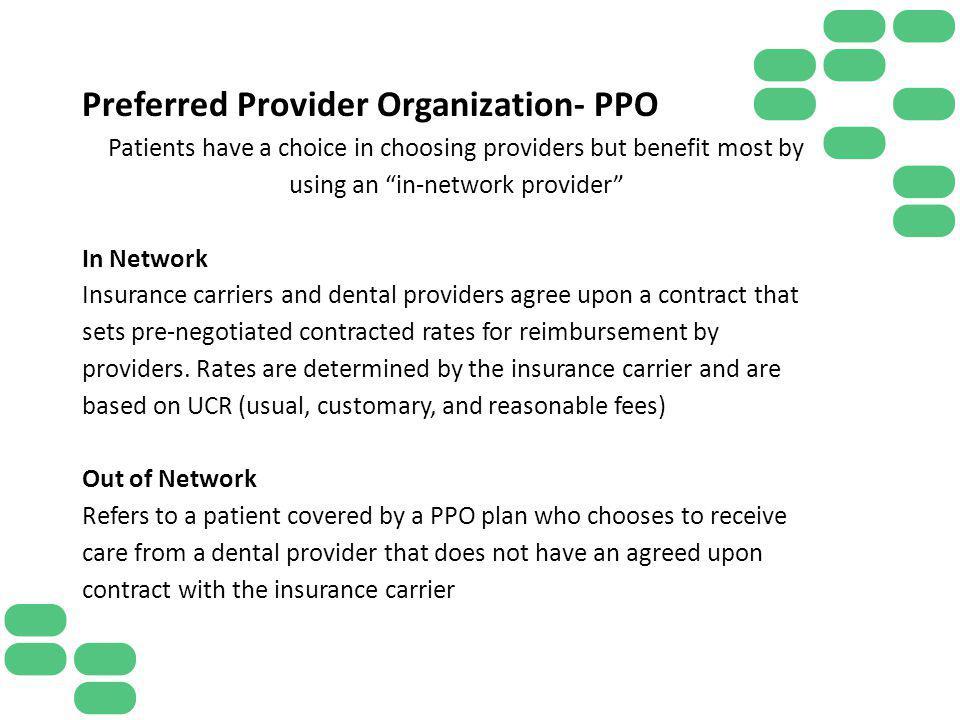 Preferred Provider Organization- PPO