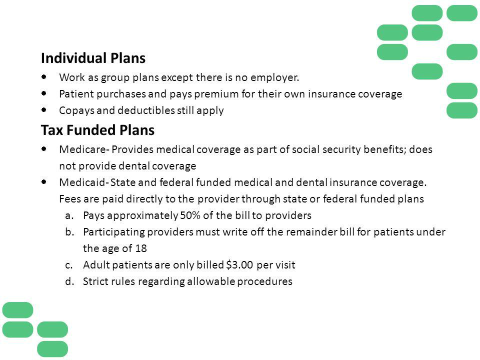Individual Plans Tax Funded Plans