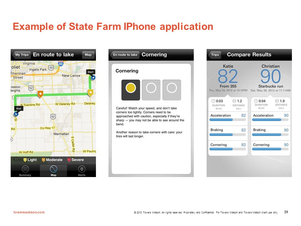 Example of State Farm IPhone application