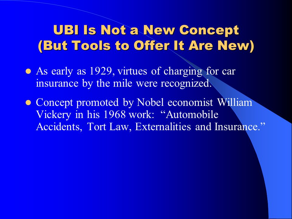UBI Is Not a New Concept (But Tools to Offer It Are New)