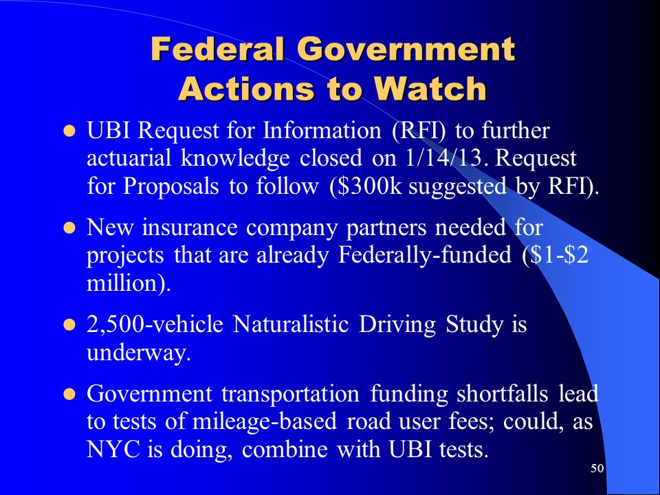 Federal Government Actions to Watch