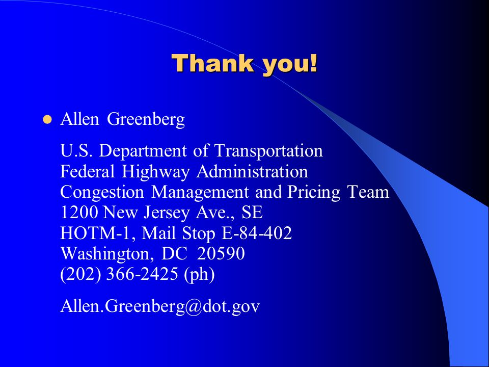 Thank you! Allen Greenberg