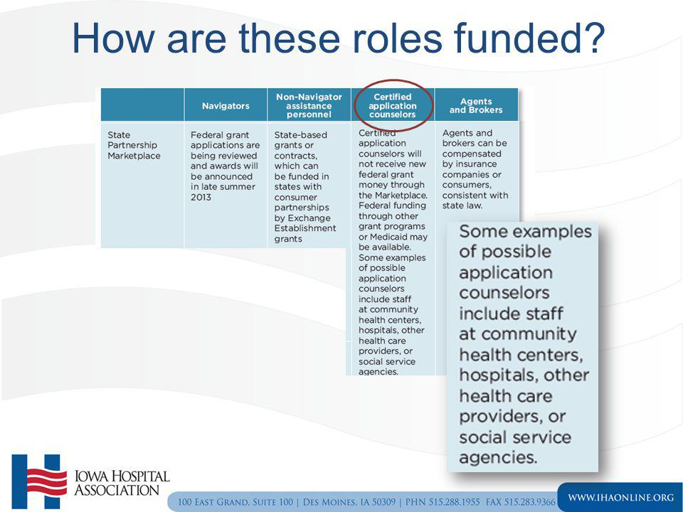 How are these roles funded