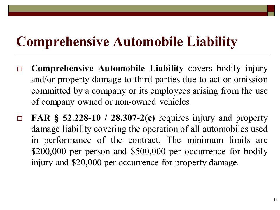 Comprehensive Automobile Liability