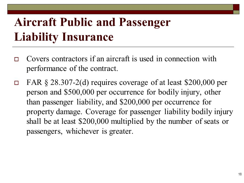 Aircraft Public and Passenger Liability Insurance