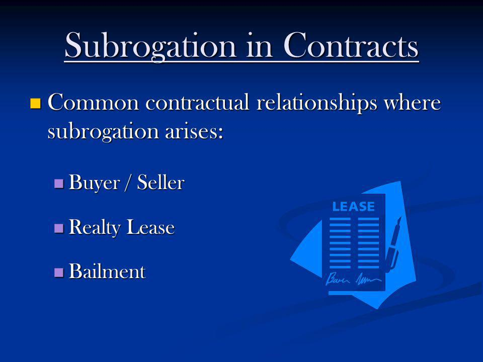 Subrogation in Contracts