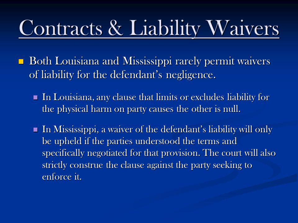 Contracts & Liability Waivers