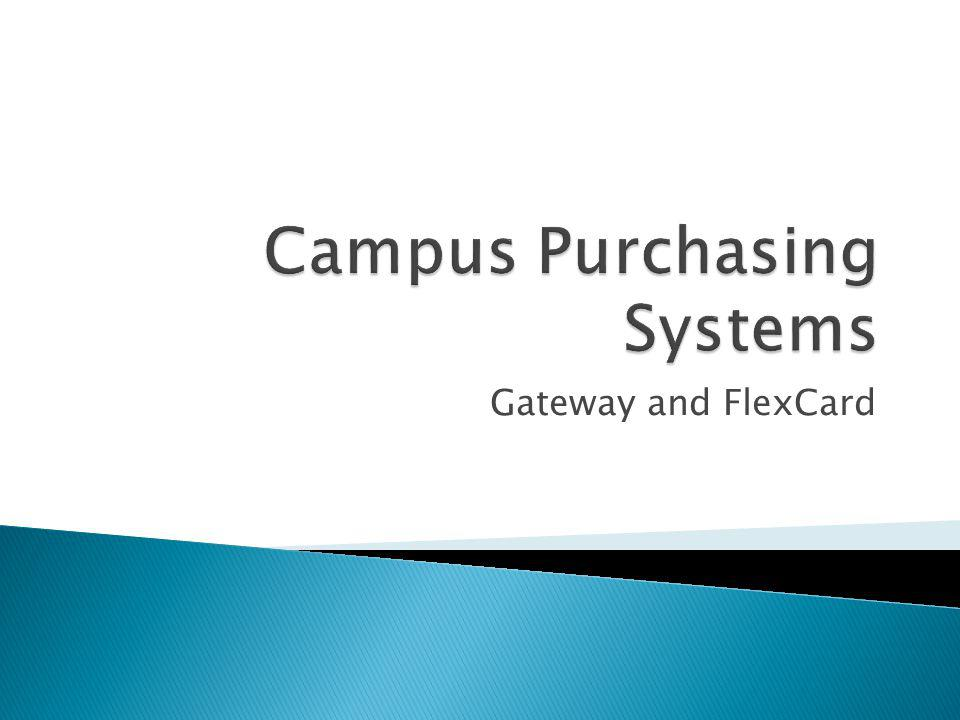 Campus Purchasing Systems