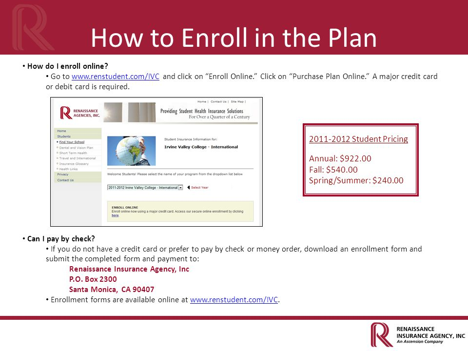 How to Enroll in the Plan