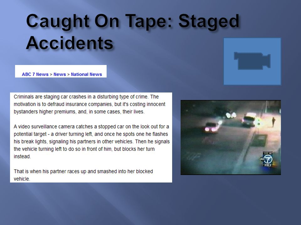 Caught On Tape: Staged Accidents